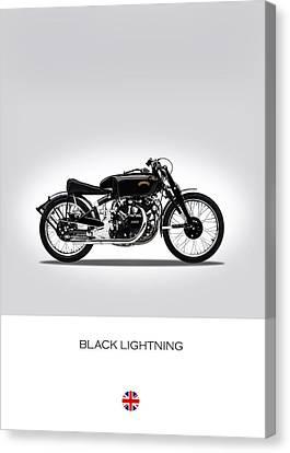 Vincent Black Lightning Canvas Print