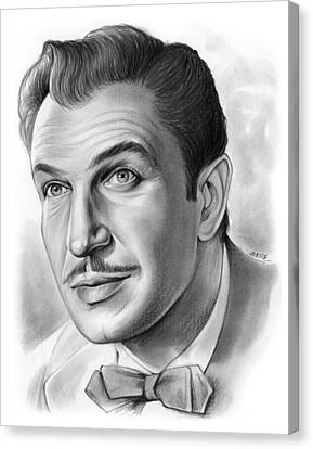 Vincent Price Canvas Print by Greg Joens