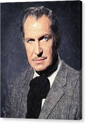 Vincent Price Canvas Print by Taylan Apukovska