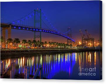 Vincent Thomas Bridge Canvas Print by Eddie Yerkish