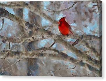 Canvas Print featuring the mixed media Vincent by Trish Tritz