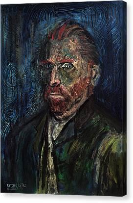 Vincent Van Gogh    Canvas Print by Antonio Ortiz