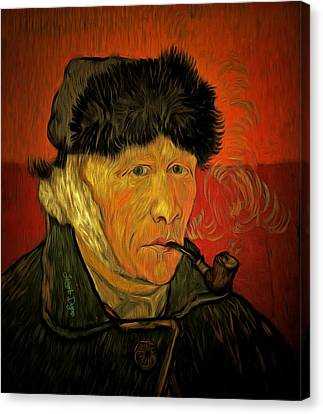 Vincent Van Gogh By Van Gogh Revisited - Da Canvas Print by Leonardo Digenio
