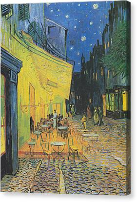 Vincent Van Gogh's Cafe Terrace At Night Canvas Print