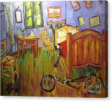 Vincent Van Go's Bedroom Canvas Print