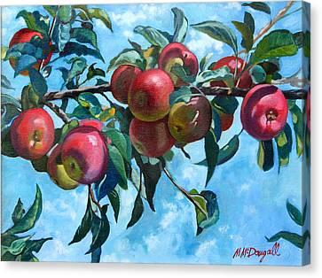 Vine Apples Canvas Print by Michael McDougall