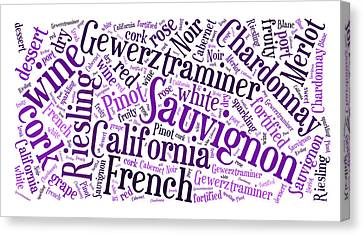 Wine Word Cloud Canvas Print
