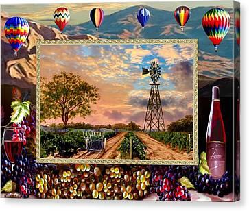 Vines To Wine Canvas Print
