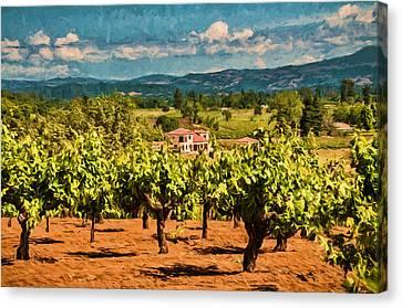 Vineyard Estate Canvas Print by John K Woodruff