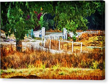 Vineyard Gate Canvas Print by Patricia Stalter