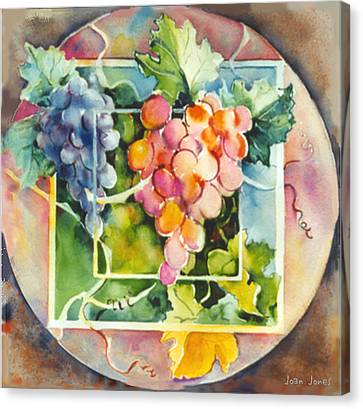 Vineyard Canvas Print by Joan  Jones