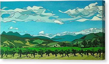 Vineyard Landscape Canvas Print