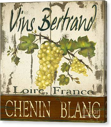 Vineyard Red Wine Sign Canvas Print