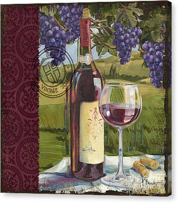 Vineyard Wine Tasting Collage I Canvas Print by Paul Brent