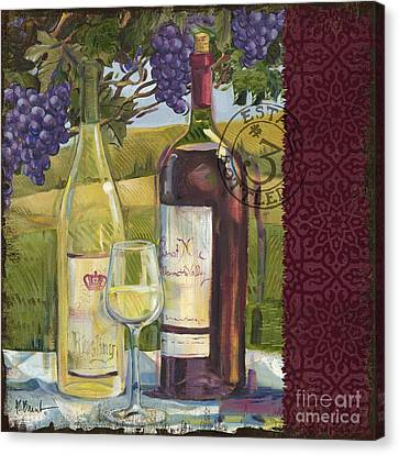 Vineyard Wine Tasting Collage II Canvas Print by Paul Brent