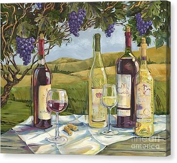 Vineyard Wine Tasting Canvas Print by Paul Brent