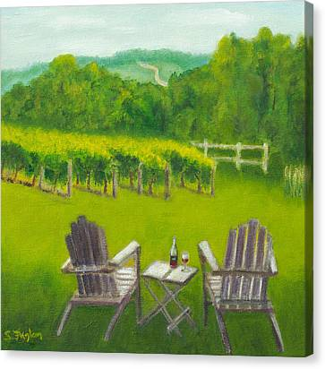 Vineyards Of Sogn Valley Canvas Print by Susan Fuglem
