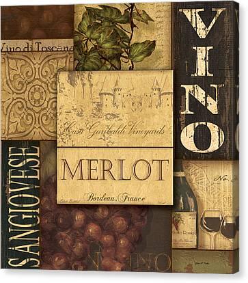 Vino Collage Canvas Print by Grace Pullen