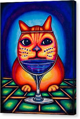 Vino Kats Canvas Print by Laurie Tietjen