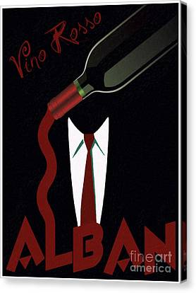 Vino Rosso  Canvas Print by Cinema Photography