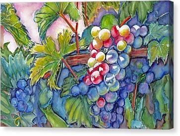 Vino Veritas II Canvas Print by June Conte  Pryor
