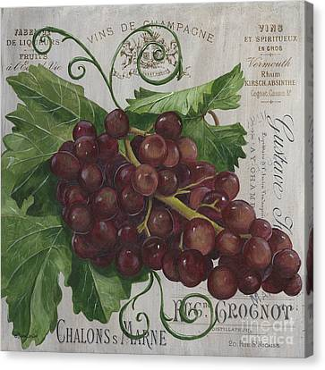 Grape Vines Canvas Print - Vins De Champagne by Debbie DeWitt