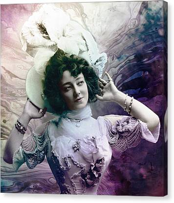 Canvas Print featuring the digital art Vintage 1900 Fashion by Robert G Kernodle
