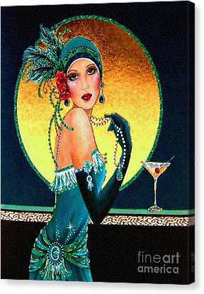 Vintage 1920s Fashion Girl  Canvas Print