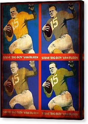 Vintage 1948 Steve - Big Boy - Van Buren Football Cards Canvas Print