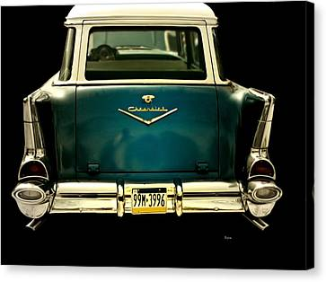 Vintage 1957 Chevy Station Wagon Canvas Print by Steven Digman