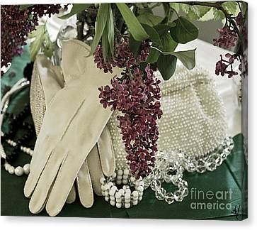 Vintage Accessories Canvas Print by Victoria Harrington