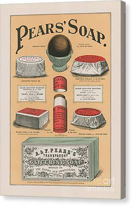 Vintage Advertisement For Pears' Soap Canvas Print by English School