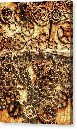Vintage Ak-47 Artwork Canvas Print by Jorgo Photography - Wall Art Gallery