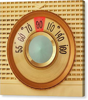 Canvas Print featuring the photograph Vintage Am Radio Dial by Jim Hughes