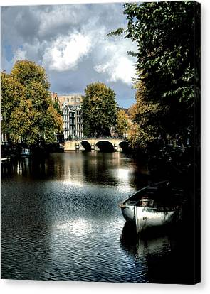 Canvas Print featuring the photograph Vintage Amsterdam by Jim Hill