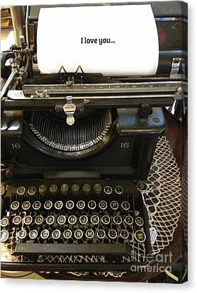 Vintage Antique Typewriter - Inspirational Vintage Typewriter  Canvas Print