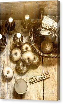 Vintage Apple Cider On Wood Crate Canvas Print by Jorgo Photography - Wall Art Gallery