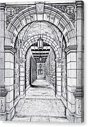 Vintage Archway Passage Canvas Print by Phil Perkins