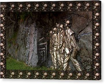 Concern Canvas Print - Vintage Art Photography Canadian  Gold Miners Museum  Digital Processing For The Border And Presenta by Navin Joshi