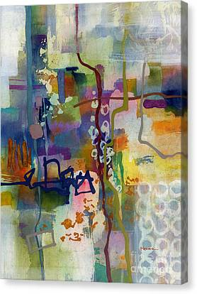 Canvas Print featuring the painting Vintage Atelier 2 by Hailey E Herrera
