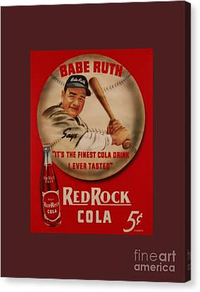 Vintage Babe Ruth Commercial Art Canvas Print