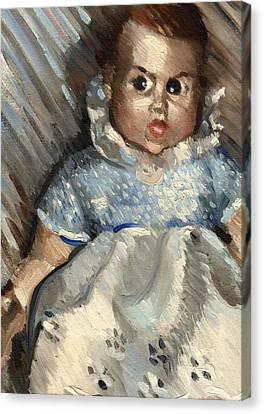 Vintage Baby Art Print Canvas Print by Tommervik