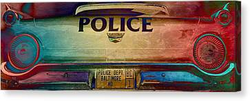 Vintage Baltimore Police Department Car Canvas Print