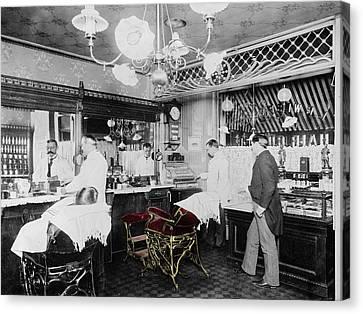 Vintage Barbershop 4 Canvas Print