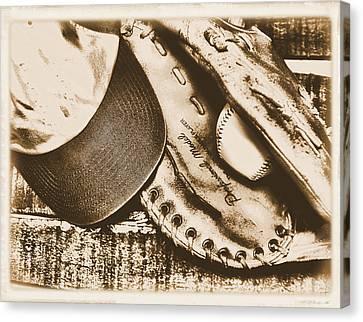 Vintage Baseball Canvas Print by Jimmy Ostgard