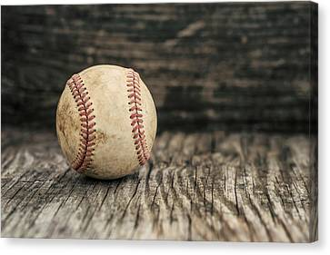 Vintage Baseball Canvas Print by Terry DeLuco