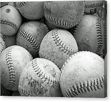 Vintage Baseballs Canvas Print by Brooke T Ryan