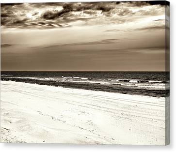 Canvas Print featuring the photograph Vintage Beach Haven by John Rizzuto