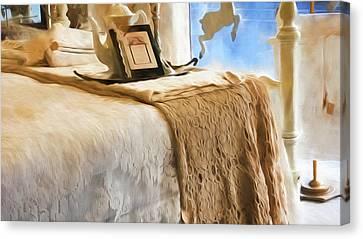 Vintage Bed Canvas Print by Bonnie Bruno