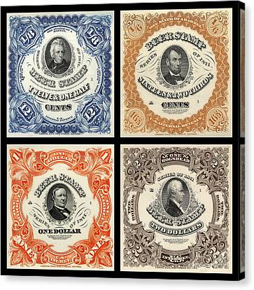 Vintage Beer Taxation Stamps  Canvas Print